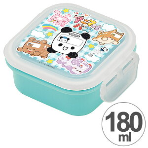 弁当箱 デザートケース ゆかいなアニマルバス 180ml 子供用 食洗機対応 レンジ対応 キャラクター 日本製 ( 子供 お弁当箱 ミニケース 果物入れ 子供 キッズ 果物ケース フルーツ