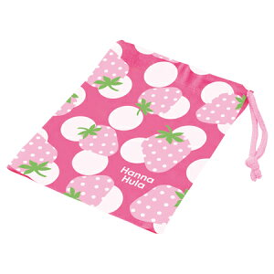 コップ袋 Hanna Hula ハンナフラ いちご 子供用 ( 子供用 給食 袋 子供用コップ ) 【39ショップ】