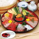 手巻き寿司セット プラスチック 食器 手巻き御膳 ふた付き しゃもじ付き オードブル容器 ( 手巻き寿司 食器 お皿 オ…