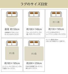 ラグ約1.5畳140×200cm防ダニ床暖ホットカーペット対応シェブロンストライプ