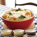 グラタン皿 17cm ラウンド コルクマット付 丸 陶器 ( オーブンウェア オーブン料理 グリル 電子レンジ対応 蒸し…