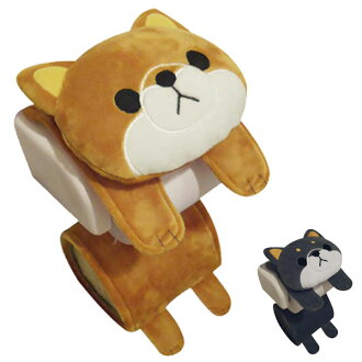Toilet paper holder cover beans often roll paper holder beans often dog story (toilet paper cover toilet paper holder cover tire cover toilet cover roll paper cover for the toilet cover beans often toy cute Shiba Inu) 05P09Jan16