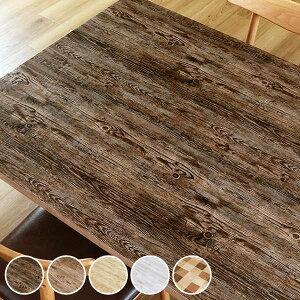 テーブルデコレーション 貼ってはがせる 90cm×150cm クラッシュウッド テーブルクロス 撥水加工 ビニール 日本製 ( テーブルシート 保護シート テーブル 机 食卓 テーブルシール 木目調 保護