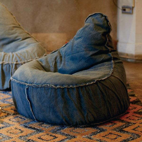 ビーズクッション クッション デニム チェアービーズクッション ヴェント VENTO ( 送料無料 背もたれつき ソファ ビーズソファー フロアソファー ビーズクッションソファ ビーズチェア 座いす 座椅子 ローチェア いす チェア 一人掛け 一人用 )