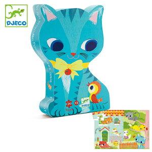 パズル パシャット&フレンド 24ピース ジグソーパズル 幼児 知育玩具 おもちゃ ジェコ ( DJECO ケース付き 猫 42×30cm 子供 キッズパズル 子供用パズル おしゃれ 3歳 4歳 ねこ )【39ショップ】