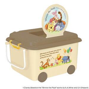 おもちゃ箱 収納ボックス くまのプーさん ふた キャス...