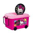 おもちゃ箱 収納ボックス ハローキティ ふた キャスター付き ( おもちゃ 収納 収納ケース 車輪付き ふた付き おもち…