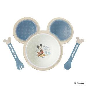 離乳食 食器 セット ミッキーマウス ワンプレート ベビー ディズニー 日本製 ( 食器セット ベビー食器 スプーン フォーク 電子レンジ対応 ミッキー 軽い 食洗機対応 キッズ 子ども プラスチ