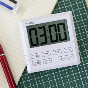 タイマー 勉強 消音 アラーム 大画面 マグネット MAG ベンガ君 ( 消音機能付タイマー デジタルタイマー 磁石 電池付き 時計表示 音量切り替え スタンド付き カウントダウン機能 カウントア