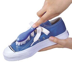 シューズブラシ ダブル植毛 上履き 上履き洗い ブラシ 外靴 ( 靴ブラシ 靴クリーナー 靴洗い 2way 汚れ落とし シューズ洗い スニーカー 靴 シューズ 洗濯用品 2種類 大小 使い分け )【39ショ