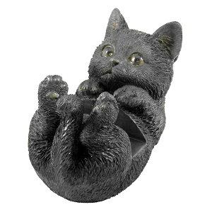 スマホスタンド クロネコ スマートフォンスタンド 猫 ( スマホ立て スマホ置き スマホホルダー ねこ デスク 収納 整理 整頓 便利 デザイン雑貨 置物 オブジェ 勉強机 学習机 文具 片付け テ