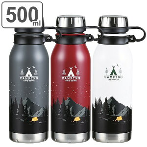 水筒 ステンレス モーメンツ ダイレクトボトル 500ml ( ボトル 保温 保冷 ダイレクト ステンレスボトル マイボトル 500 0.5L ステンレス製 スポーツボトル スタイリッシュ ハンドル付き おしゃ