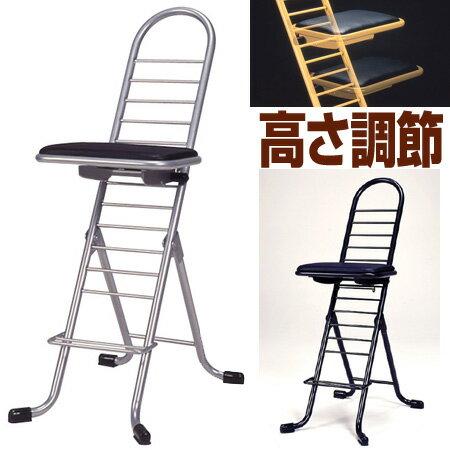 プロワークチェア 作業椅子 固定 ハイタイプ|送料無料 折りたたみ椅子 チェアー 作業場 工房 工場 イス 座面高さ調節 業務用品 折りたたみ 折り畳み いす ワークチェアー 作業用 ワーキングチェア 工場家具 作業イス 倉庫 天体観測 ワーキングチェア ワーキングチェアー