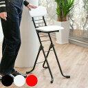 椅子 高さ調節 6段階調節 リリィチェア クッションタイプ 折りたたみ チェア スチール ブラック×ブラックフレーム (…