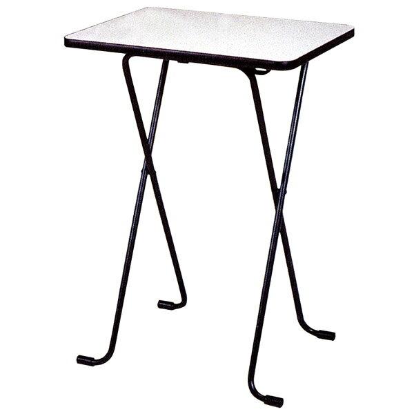 折りたたみテーブル ハイタイプ メラミン天板 幅60×奥行45cm 高さ85cm ( 送料無料 デスク カウンターテーブル 机 コーヒーテーブル フォールディングテーブル パソコンデスク ) 【5000円以上送料無料】