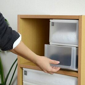 収納ケース ポスデコ A5サイズ 深型2段 カラーボックス用 ( 収納ボックス カラーボックス インナーボックス 引き出し 小物収納 収納用品 A5タイプ プラスチック 小物入れ 小物ケース レターケース インボックス )【5000円以上送料無料】