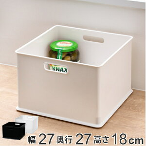 カラーボックス 横置き インナーボックス 収納 ハーフ ナチュラ インボックス プラスチック 日本製 ( 収納ボックス 収納ケース ボックス スタッキング 引き出し 積み重ね BOX おもちゃ収納