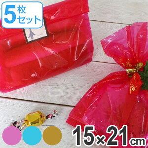 ポリ袋 シースルー ポリフードバッグ 同色5枚入 日本製 ( 耐油袋 小分け 袋 ラッピング 半透明 お菓子 包装 ナイロン 袋 耐油 使い捨て スイーツ 小分け袋 )【39ショップ】