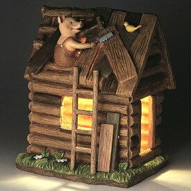 ガーデンオーナメント ソーラーライト 3匹のこぶた 木の家 ( 送料無料 オーナメント ガーデンライト エクステリアライト 置物 飾り ガーデン 園芸 おしゃれ セトクラフト )