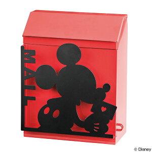 ポスト ミッキーマウス 壁掛け 鍵付き 郵便ポスト デ...