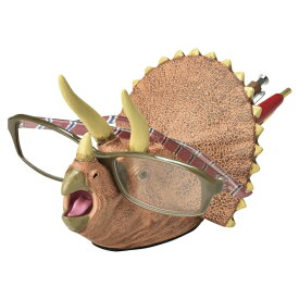 デスクキーパー ペン立て メガネスタンド 文房具 トリケラトプス 恐竜 ( 文具 眼鏡スタンド めがねスタンド プレゼント ダイナソー おもしろ ペンスタンド ペン入れ メガネ メガネ置き グッズ 雑貨 デスク用品 インテリア )【39ショップ】
