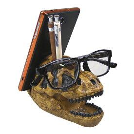デスクキーパー ペン立て 文房具 ティラノサウルス 化石 恐竜 ( めがね置き クリップホルダー スタンド スマホスタンド デスク 収納 整理 整頓 便利 デザイン雑貨 置物 オブジェ 勉強机 学習机 文具 片付け )【39ショップ】