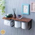 【トイレットペーパーホルダー・棚付き 】スマホが置けたり便利!おしゃれな木製・アイアンなど、お勧めは?