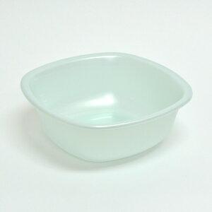 湯おけ 洗面器 アンティ untie 角型 26cm シルバーブルー ( 湯桶 手おけ 手桶 風呂桶 バス用品 せんめんき )【39ショップ】
