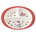 ランチプレート 26cm メラミン製 食器 ハローキティ クッキー キャラクター ( 食洗機対応 お皿 ランチ皿 割れにくい …