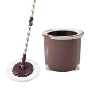 トルネード回転モップ 丸型セット 一槽式バケツ&マイクロファイバー丸型モップ ( トルネードスピンモップ 水拭きモップ 掃除用品 トルネードモップ フローリングワイパー 床掃除