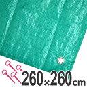 レジャーシート ジャンボシート 行楽シート 4.5畳 2.6×2.6m グリーン ( レジャーマット ピクニックシート スト…