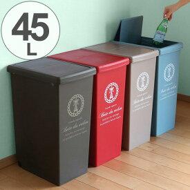 ゴミ箱 45L ふた付き スライドペール 45リットル ( ごみ箱 ダストボックス キッチン フタ付き プラスチック 45l スリム ペール 大容量 角型 縦型 分別ゴミ箱 蓋付き おしゃれ )【39ショップ】