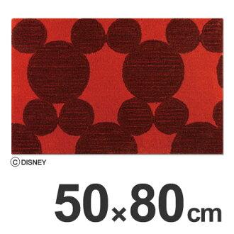 ■没有库存限度、进货的■门口mattosuminoemikkidizunirasutasakurumatto 50*80cm红(室内入口垫子防虱子防滑物日本制造红简单的米老鼠Disney人物)
