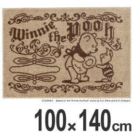 ラグ スミノエ くまのプーさん デイリーシーンラグ 100×140cm ( 送料無料 ディズニー ラグマット 絨毯 プーさん Disney キャラクター ホットカーペット対応 防ダニ 国産 センターラグ マット カーペット )【39ショップ】