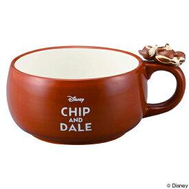 スープカップ チップ&デール まったり 390ml 持ち手付き 磁器 食器 キャラクター ( 食洗機対応 カップ 電子レンジ対応 マグ チップ デール スープ スープボウル コップ チップとデール 大人 子供 洋食器 ディズニー )【39ショップ】