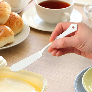 バターナイフ 17cm クラシカルブラン classical blanc ステンレス製 ホーロー 日本製 ( バタースプレダー 洋食器 カトラリー 琺瑯 白い食器 バター ジャム マーガリン 白 おしゃれ かわいい )【39