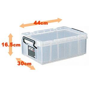 収納ボックス クローゼット用 ロックス 440S( フタ付き キャスター取付可 収納ケース 押入れ収納 プラスチック 衣装ケース 積み重ね スタッキング 衣類収納 工具箱 キャスター付きにできま