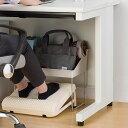 フットレスト 靴がしまえるフットレスト 足置き オフィス ( デスク下 足 置き 靴 収納 マッサージ 机下 デスク 机 下…