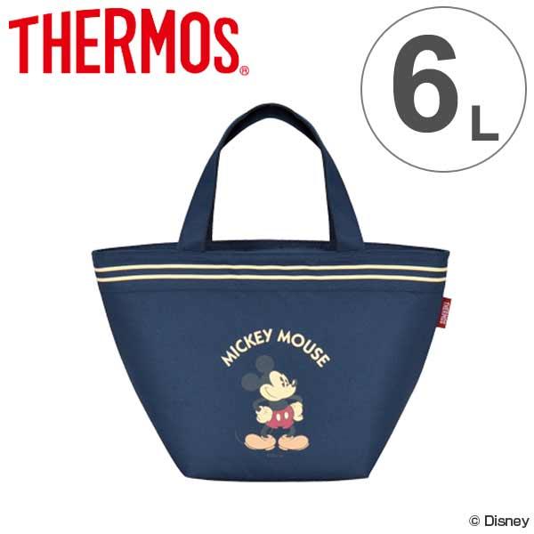 クーラーバッグ ミッキーマウス 6L サーモス(thermos) ソフトクーラー REH-006DS ( ショッピングバッグ 保冷バッグ クーラーボックス キャラクター mickey mouse 冷蔵ボックス 保冷 買い物バッグ )【5000円以上送料無料】