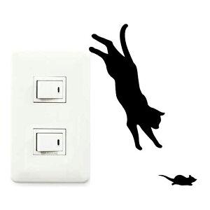 ウォールステッカー 壁紙シール 猫 ジャンプ CAT LIFE ( インテリアシール ウォールシール Wall story コンセント 壁 シール デコレーションステッカー デコレーションシール スイッ