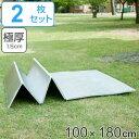 レジャーシート 厚手 アルミ 幅100cm 2枚組 極厚 15mm 折りたたみ レジャーマット ( 送料無料 アルミマット マット …