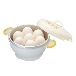 電子レンジ 調理用品 レンジでゆでたまご 7個用 キッチンアシスト ( ゆで玉子調理器 ゆで卵調理器 ゆで玉子作り 電子レンジ用 ゆで卵 ゆで玉子 ゆでたまご 半熟玉子 半熟卵 ゆで卵作り キ