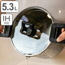 Wonder chef ワンダーシェフ パスタポット 5.3L IH対応 ガラス蓋付 蒸しす付き ( ガス火対応 両手鍋 両手深型鍋 パス…