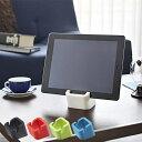 タブレットスタンド PCスタンド iPadホルダー シリコン製 スクエア ( 縦置き 横置き対応 スマートフォン 携帯電…