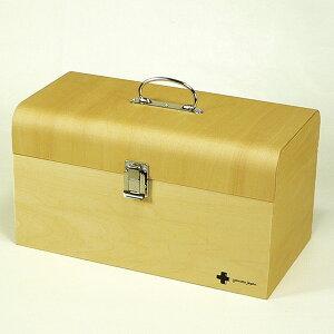 救急箱 木製 ヤマト工芸 yamato 日本製 手作り ( 送料無料 おしゃれ 薬 ケース 薬入れ 救急ボックス 薬箱 レトロ 防災グッズ 応急手当 救急セット くすり箱 取っ手付き 仕切り 木製 仕切り付き