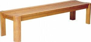 【法人限定】 ベンチ 背なし YB-65L-WN TK-1550 送料無料 木製 業務用 屋外 公園 【39ショップ】