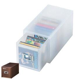 収納ボックス 引き出し プラスチック LM-30 深型 CD 収納 日本製 ( 小物収納 収納ケース ケース ボックス 引出し 小物ケース 小物 書類 卓上収納 整理整頓 デスク周り レターケース 事務用品 おしゃれ )【5000円以上送料無料】