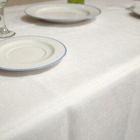白いテーブルクロスホワイトテーブルクロス 撥水加工北欧 撥水無地のテーブルクロス キャンバス 140×230cmバニラ
