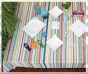 テーブルクロス ペイント132×229cmさっと拭けるビニール製