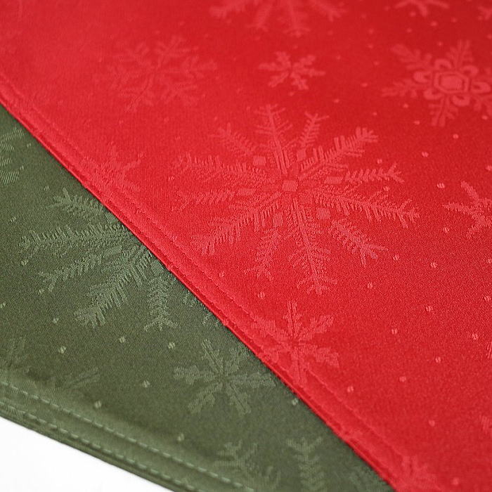 クリスマス ランチョンマット クリスタル 33×47cm撥水性 洗えます
